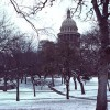 Texas Capitol in Snow